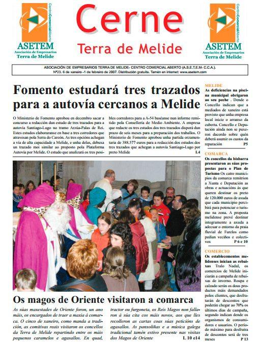 CERNE Nº 23 – XANEIRO 2007
