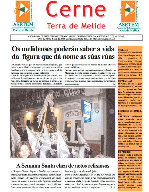 CERNE Nº 36 – MARZO 2008