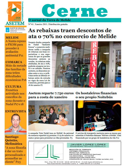 CERNE Nº 61 – XANEIRO 2011