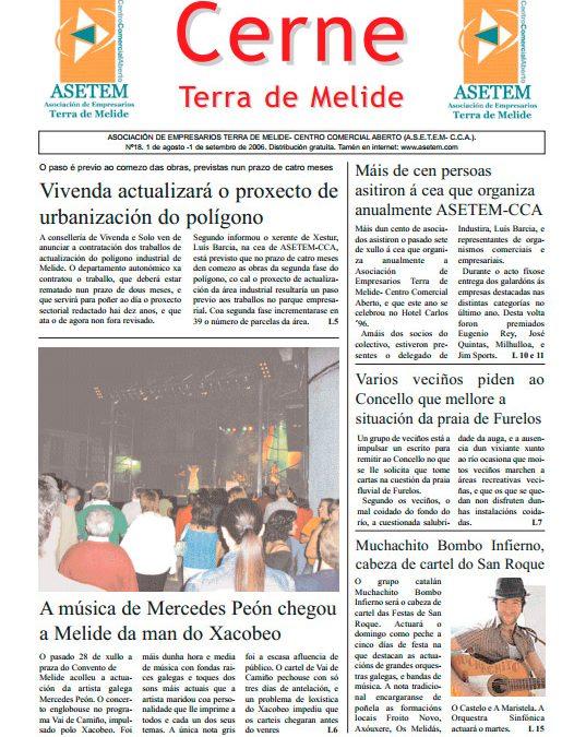 CERNE Nº 18 – AGOSTO 2006