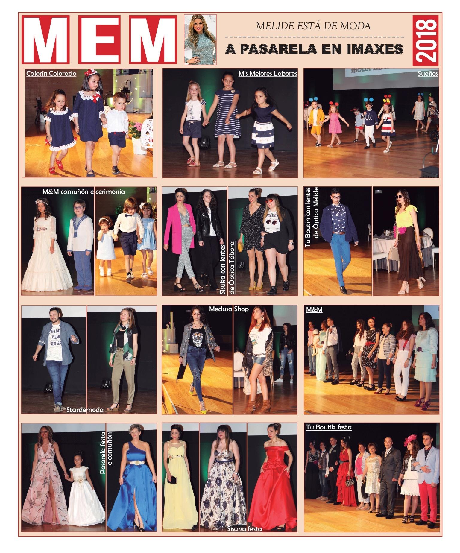 Imaxes da cuarta edición do desfile Melide Está de Moda Primavera-Verán 2018 na Casa da Cultura da vila